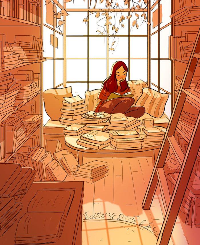 Yaoyao Ma Van As ilustraciones dicha vivir sola 12