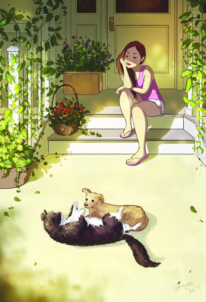 Yaoyao Ma Van As ilustraciones dicha vivir sola 18