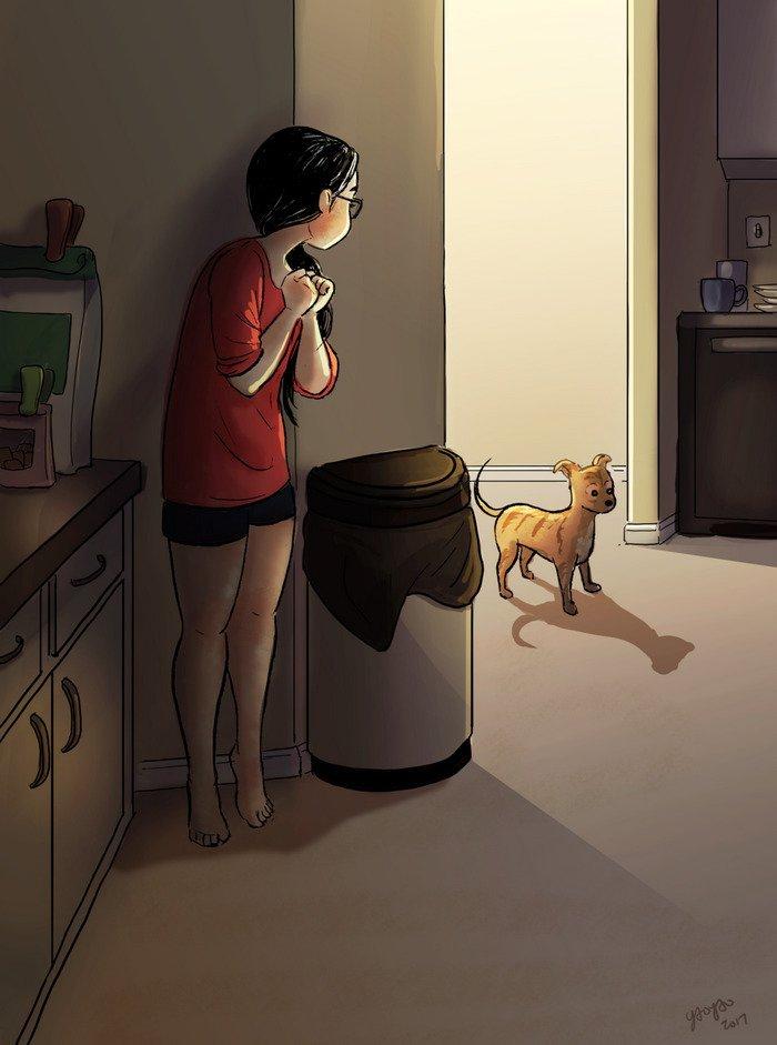 Yaoyao Ma Van As ilustraciones dicha vivir sola dos