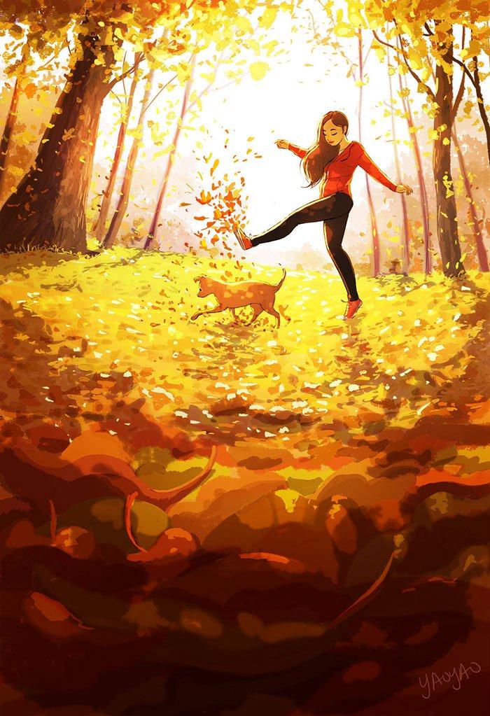 Yaoyao Ma Van As ilustraciones dicha vivir sola 22