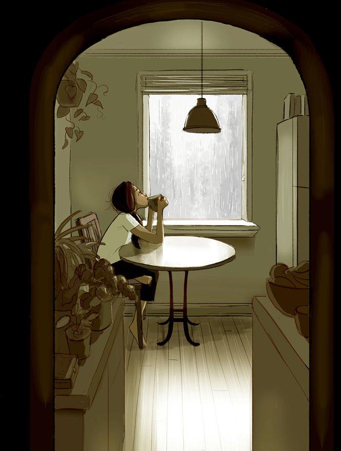 Yaoyao Ma Van As ilustraciones felicidad vivir sola 4