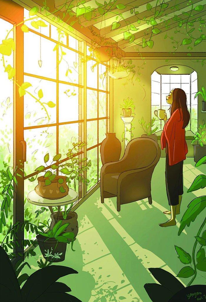 Yaoyao Ma Van As ilustraciones dicha vivir sola seis