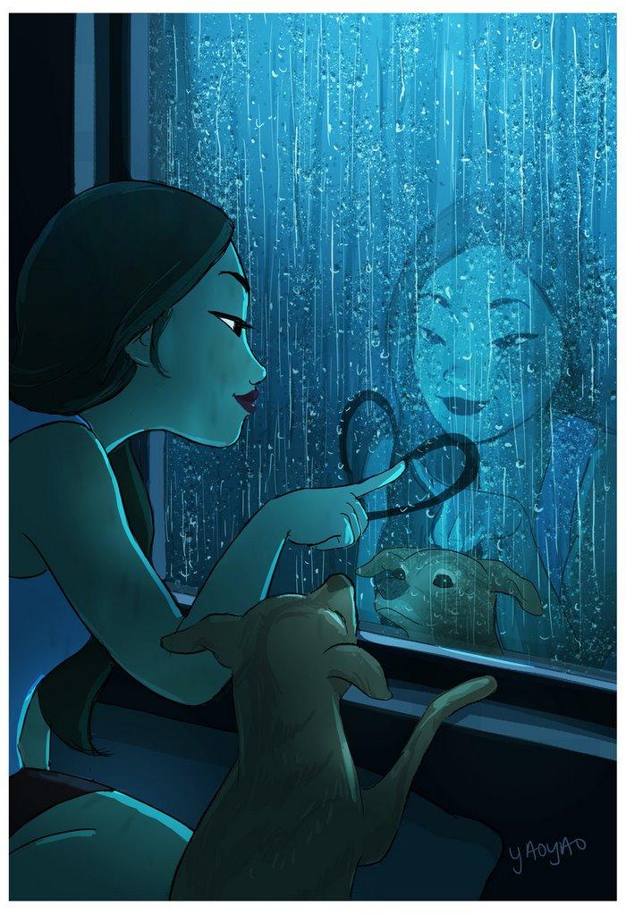 Yaoyao Ma Van As ilustraciones dicha vivir sola veinticinco
