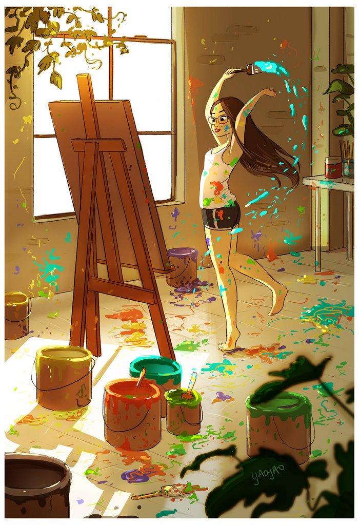 Yaoyao Ma Van As ilustraciones felicidad vivir sola once