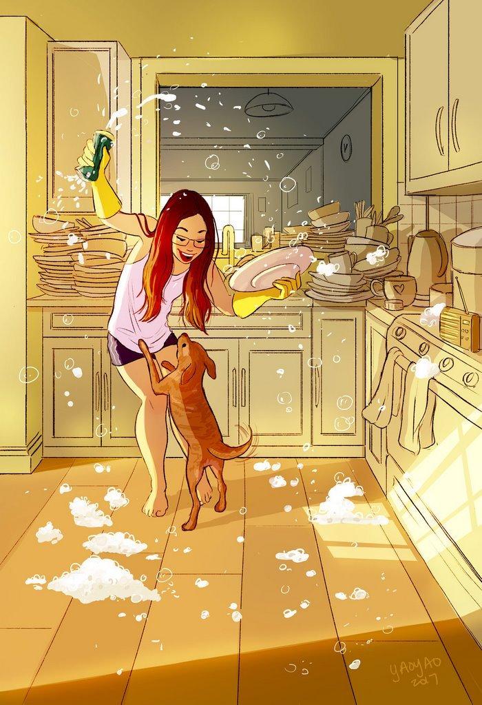 Yaoyao Ma Van As ilustraciones dicha vivir sola